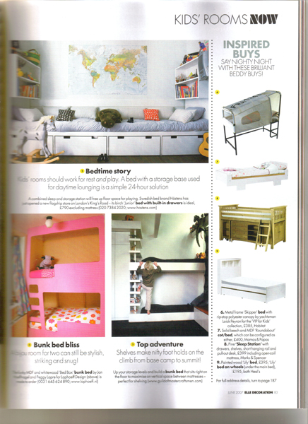 Elle Decoration juni 2007, Bed box.